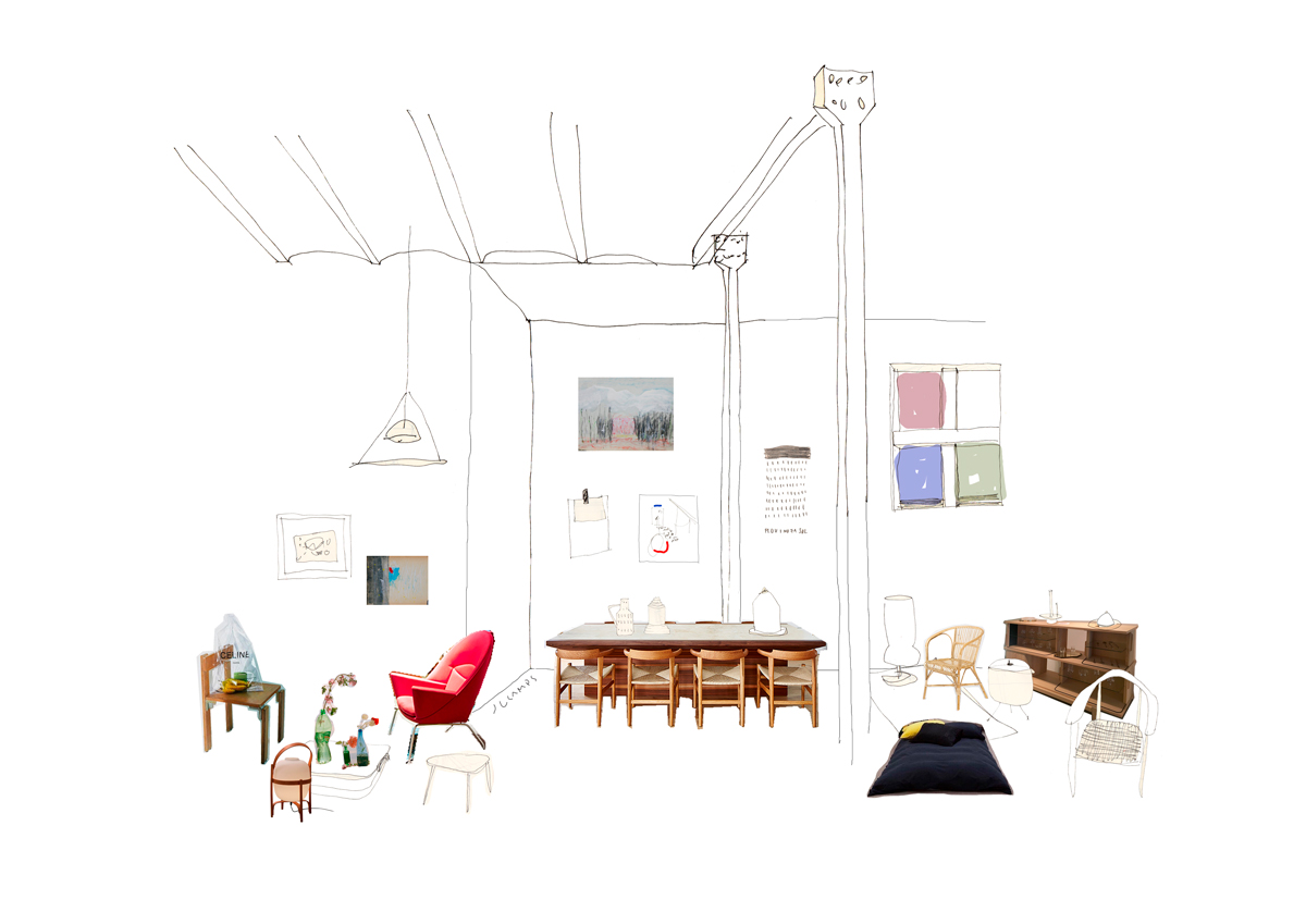 silvia-garcia-camps-ilustradora-collage-domestic-workspaces-espai-ro-post-slowkind