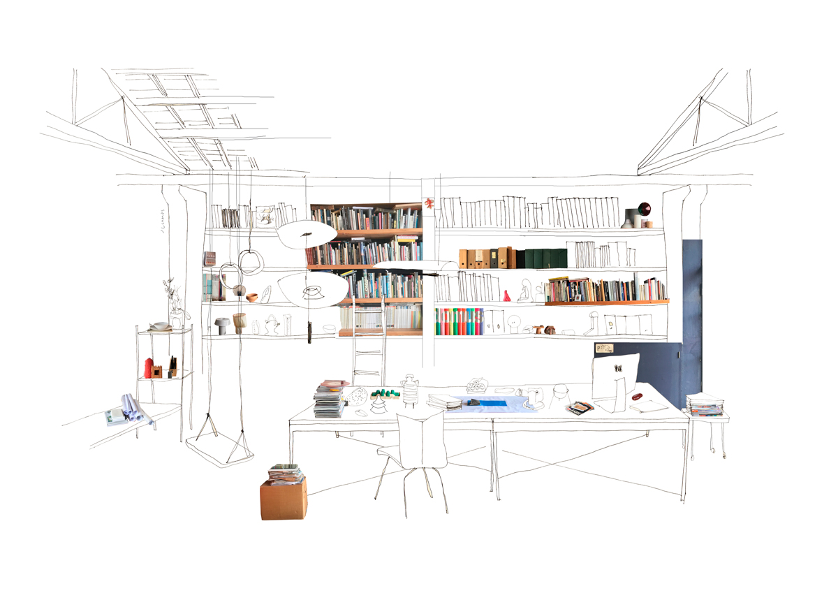silvia-garcia-camps-ilustradora-collage-domestic-workspaces-estudi-antoni-arola-post-slowkind