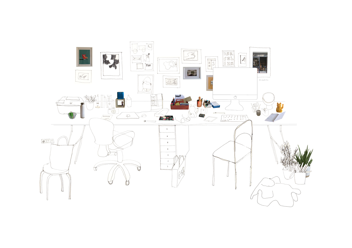 silvia-garcia-camps-ilustradora-collage-domestic-workspaces-estudio-slowkind-post-slowkind