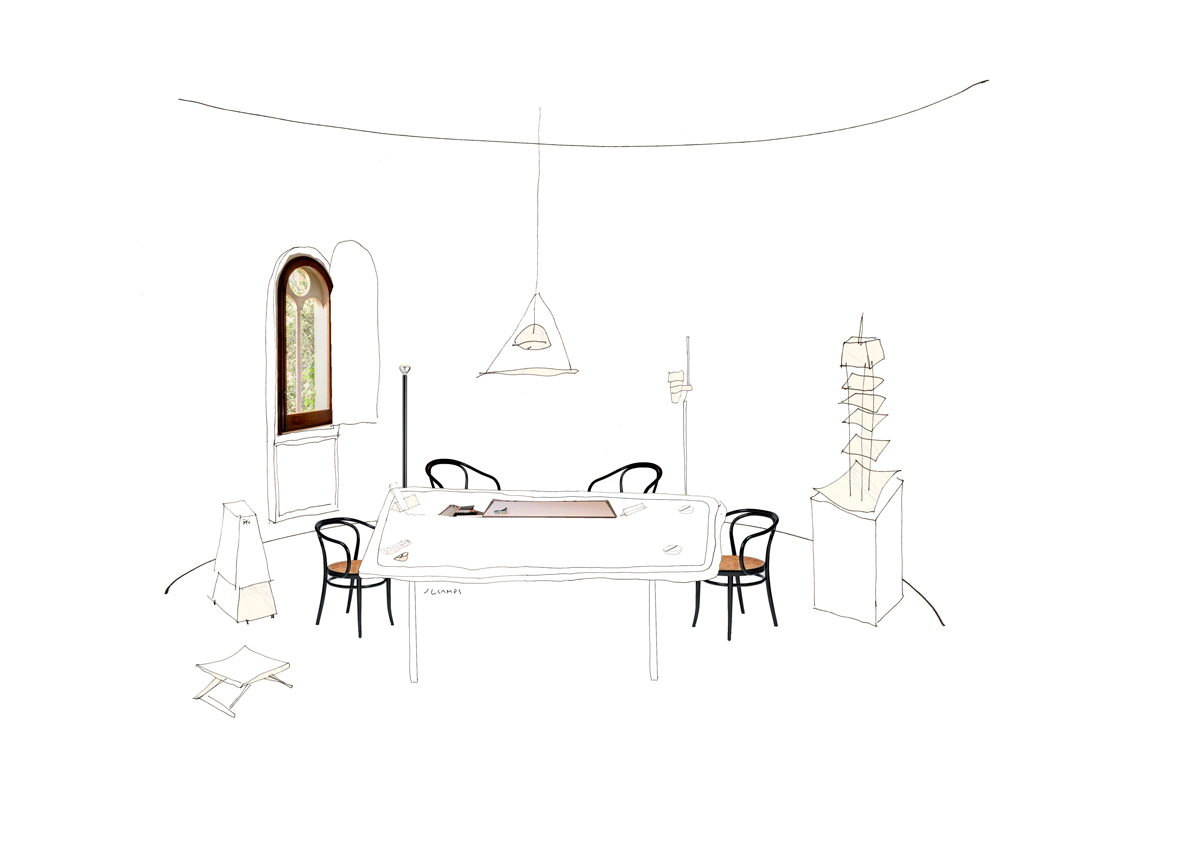 silvia-garcia-camps-ilustradora-collage-domestic-workspaces ricardo-bofill-taller-de-arquitectura-post-slowkind