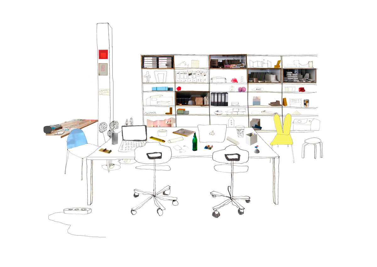 silvia-garcia-camps-ilustradora-collage-domestic-workspaces-sam-chermayeff-office-post-slowkind